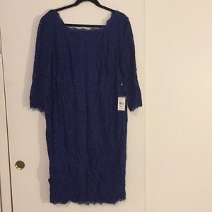 NWT Royal Blue Lace Adrianna Papell Dress - 20W